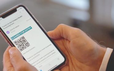Phone with email containing a QRcode